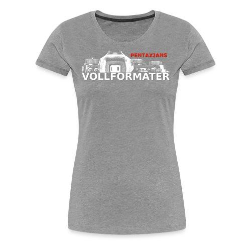 Pentaxians VOLLFORMATER white Logo - Frauen Premium T-Shirt