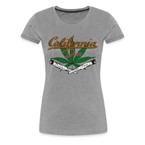 California Diet Cannabis Kiffen Hanf Geschenk - Frauen Premium T-Shirt