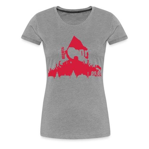 Dresden Demo weiss rot - Frauen Premium T-Shirt