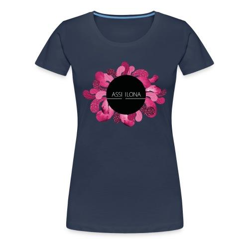 Naisten t-paita punaisella logolla - Naisten premium t-paita