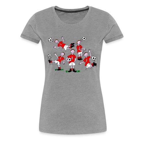 Cartoon Football Player - Women's Premium T-Shirt