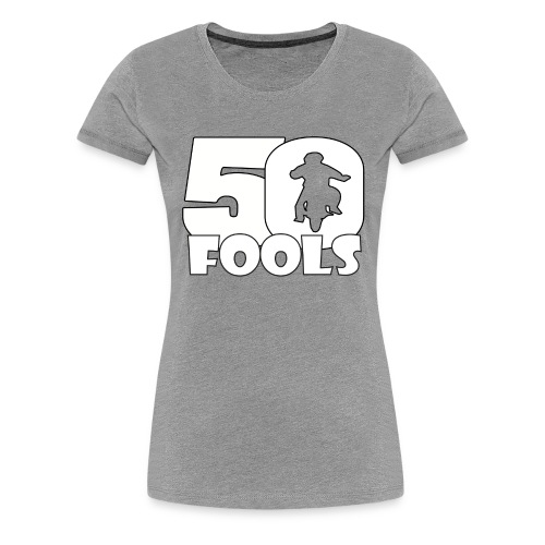 50FOOLSLOGOSPREADSHIRT png - Vrouwen Premium T-shirt