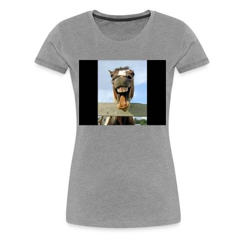 Hahaha - Dame premium T-shirt