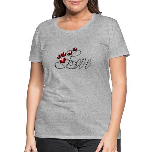 Love Herz - Frauen Premium T-Shirt