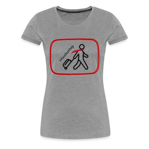 HOPPER CON MALETA - Camiseta premium mujer