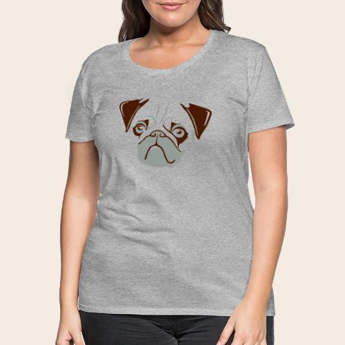 otiz mops kopf 2farbig - Frauen Premium T-Shirt