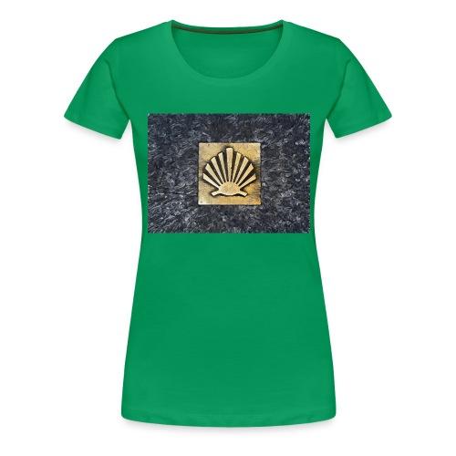 Scallop Shell Camino de Santiago - Women's Premium T-Shirt