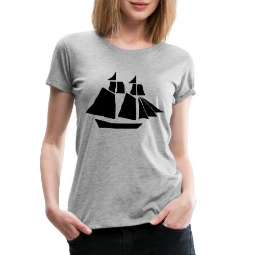 black hand ship - Women's Premium T-Shirt