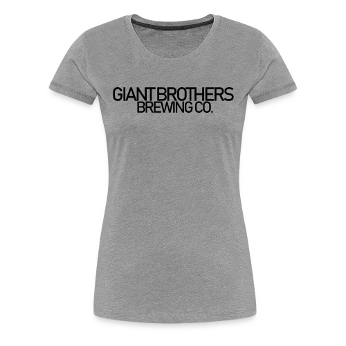 Giant Brothers Brewing co SVART - Premium-T-shirt dam