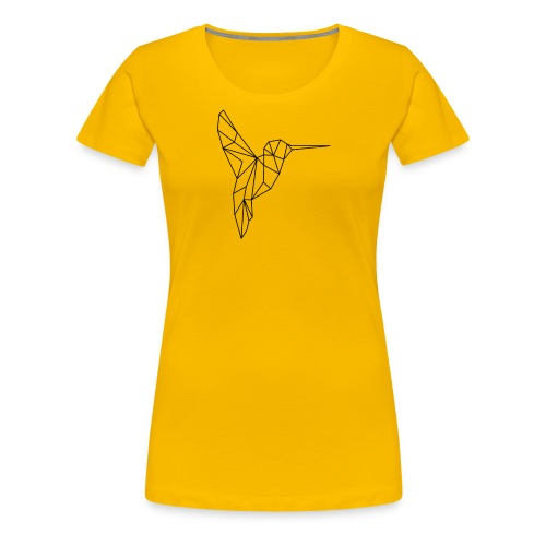 Vogel Kolibri Geometrisch - Frauen Premium T-Shirt