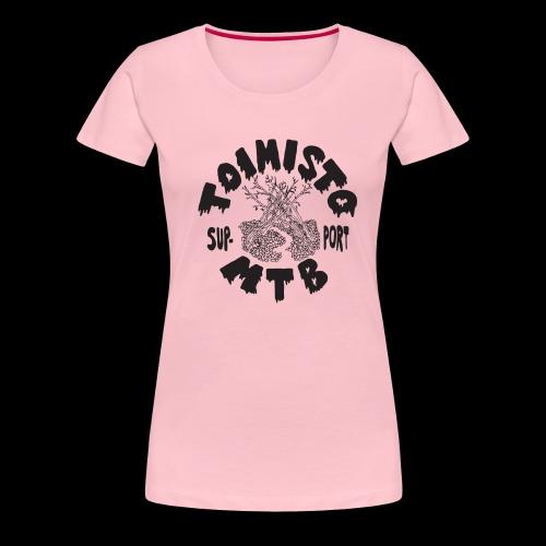 musta toimisto2support - Naisten premium t-paita
