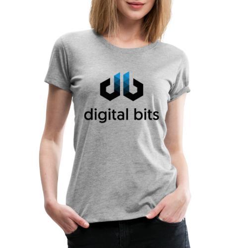 digitalbits Logo mit Schriftzug - Frauen Premium T-Shirt