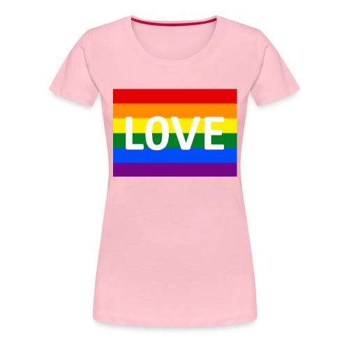 LOVE RETRO T-SHIRT - Dame premium T-shirt