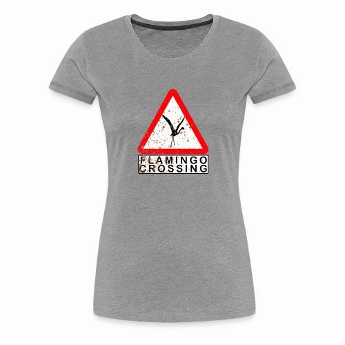 flamingo crossing - Frauen Premium T-Shirt
