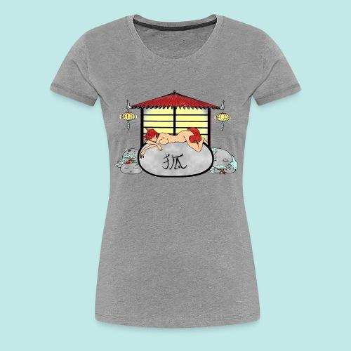 Déesse renard Inari jardin zen temple japonais - T-shirt Premium Femme