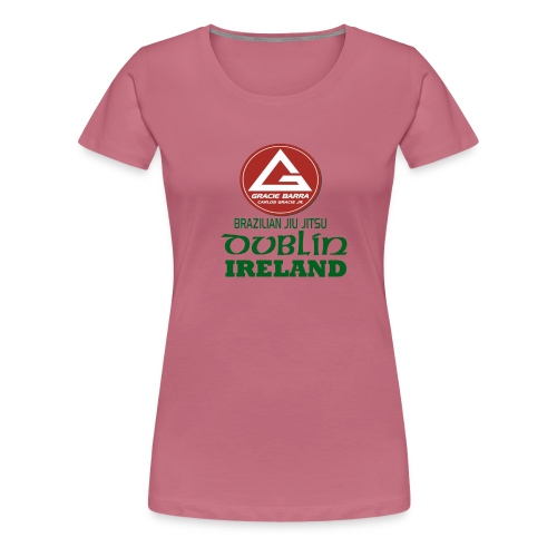 Gracie Barra Dublin Gaelic Celtic Font PNG - Women's Premium T-Shirt