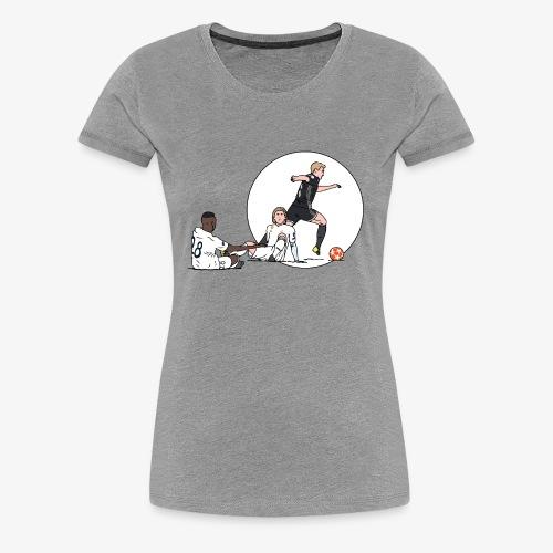 de jong vs real - Vrouwen Premium T-shirt