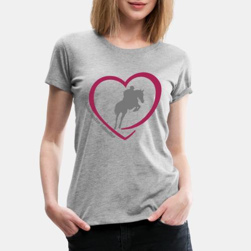 Springreiten höher weiter schneller - Frauen Premium T-Shirt