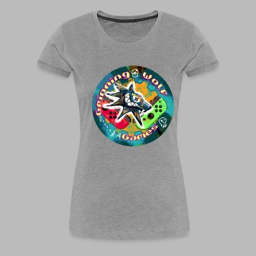 Grinning Wolf Games 21 Round logo - Women's Premium T-Shirt