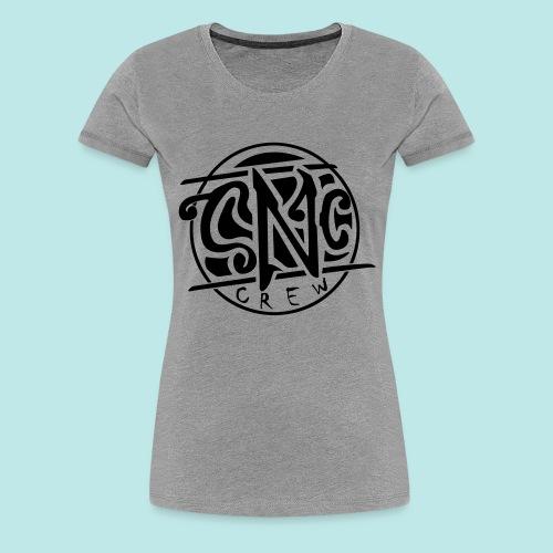 snc_logo_vektor_black2 - Frauen Premium T-Shirt