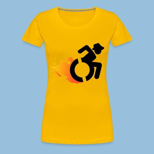 Roller met vlammen 016 - Vrouwen Premium T-shirt