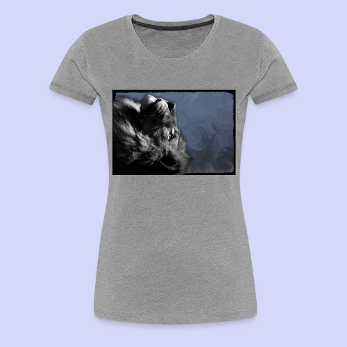 Lion night - Female shirt - Dame premium T-shirt