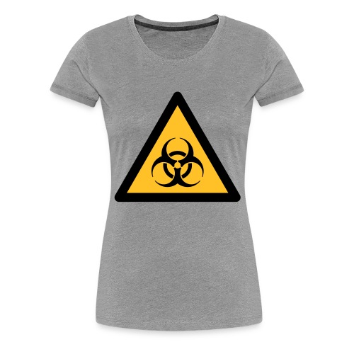 Hazard Symbol - Biohazard (2-color) - Women's Premium T-Shirt