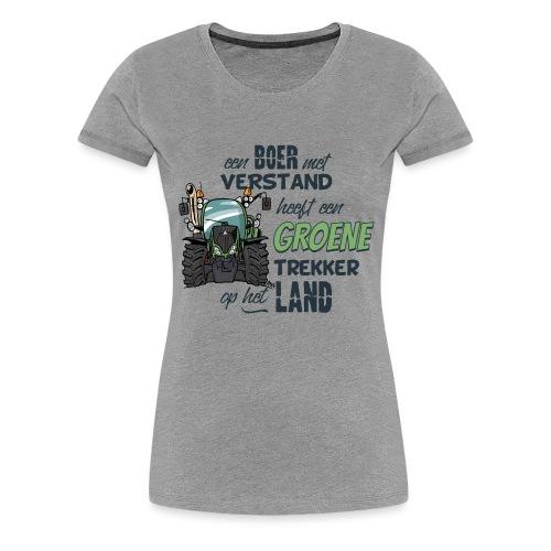 0195 Boer verstand F - Vrouwen Premium T-shirt
