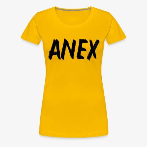 V-neck T-Shirt Anex black logo - Women's Premium T-Shirt