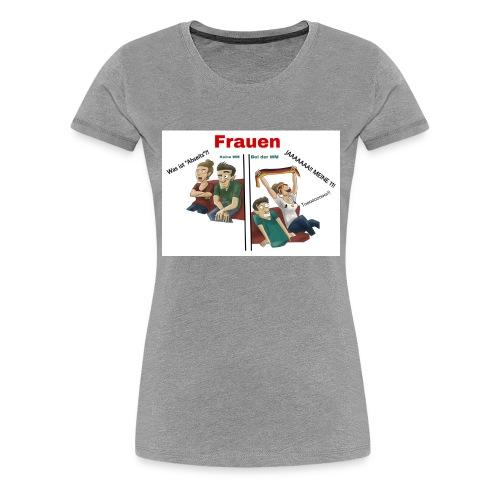 Frauen während der WM - Frauen Premium T-Shirt