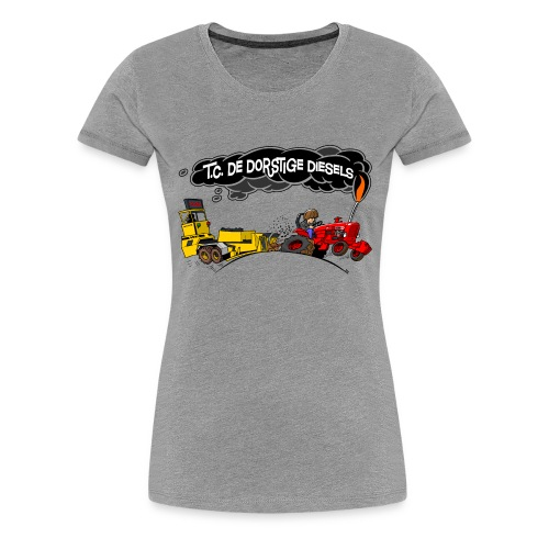 tc de dorstige diesels ACHTERKANT - Vrouwen Premium T-shirt