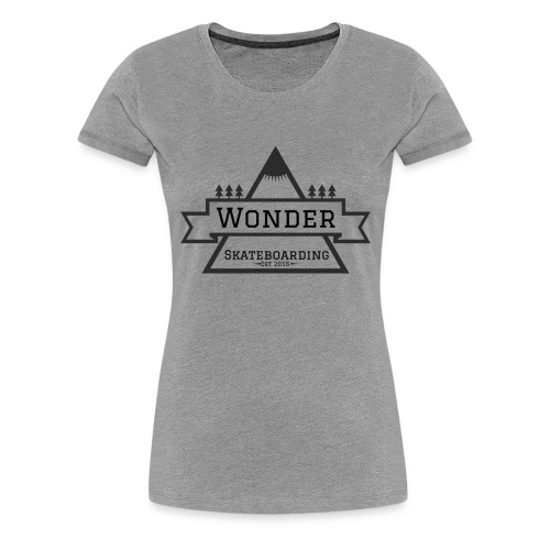 Wonder hoodie no hat - Mountain logo - Dame premium T-shirt