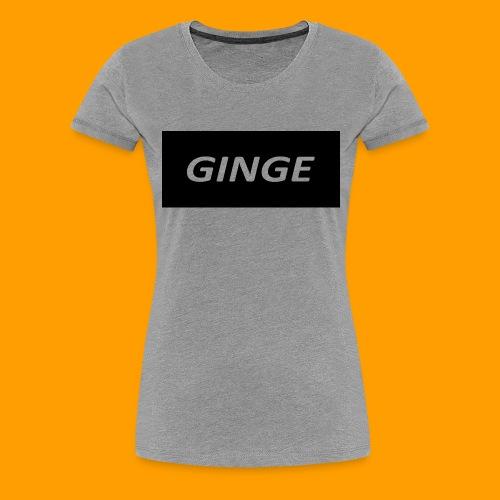 GINGE LOGO - Women's Premium T-Shirt
