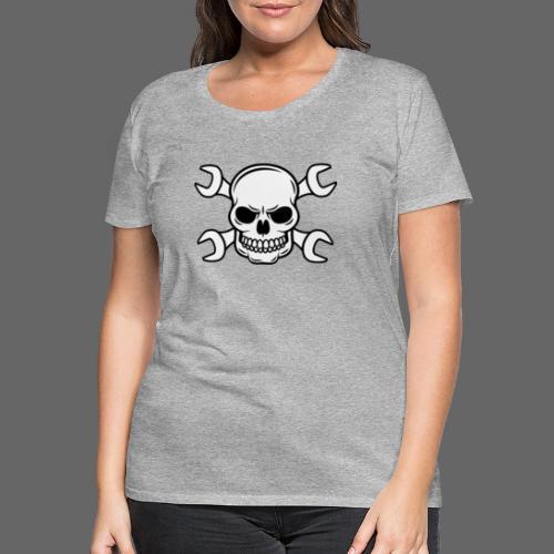 MEKKER SKULL - Dame premium T-shirt