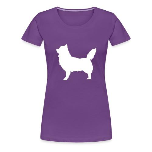 Chihuahua pitkakarva valkoinen - Naisten premium t-paita