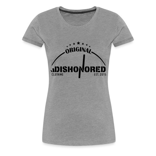 DISHONORED BROTHERS // BASIC SHIRT, BLACK AND RED - Frauen Premium T-Shirt
