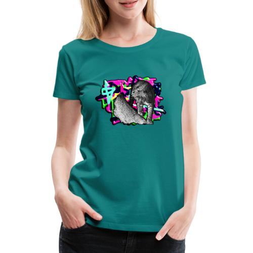 Leopard auf Bunt - Frauen Premium T-Shirt