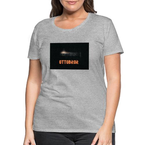svart granit polerad - Premium-T-shirt dam