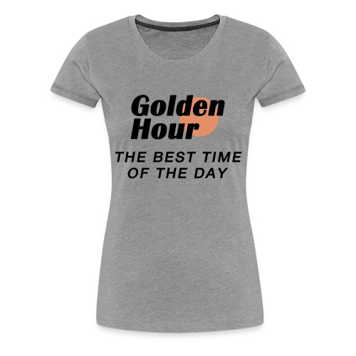 Golden Hour logo & slogan - Women's Premium T-Shirt