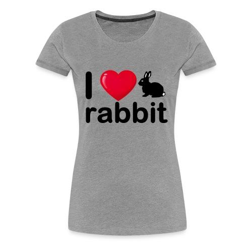 Zu nett Kaninchen i love black rabbit - Frauen Premium T-Shirt