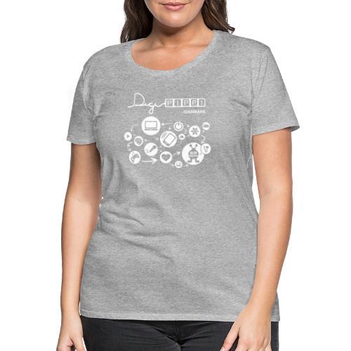 DigiPippi DK white - Dame premium T-shirt
