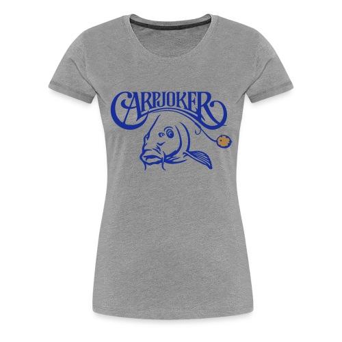 carpjoker_mit_karpfen_und_boilie_2c - Frauen Premium T-Shirt
