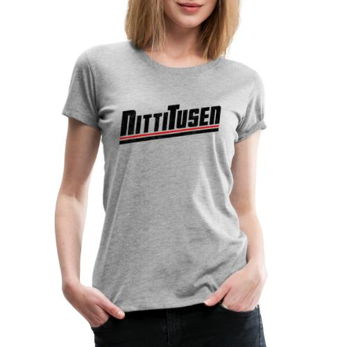 Nittitusen print svart - Premium-T-shirt dam