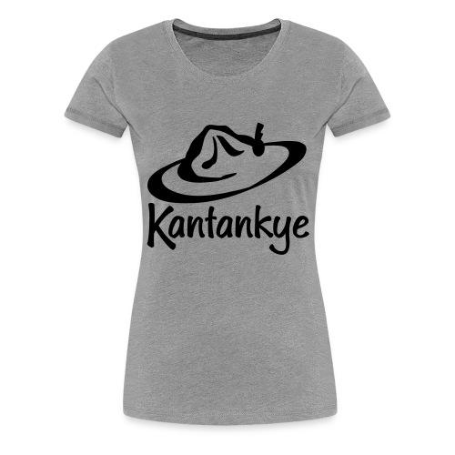 logo hoed naam - Vrouwen Premium T-shirt