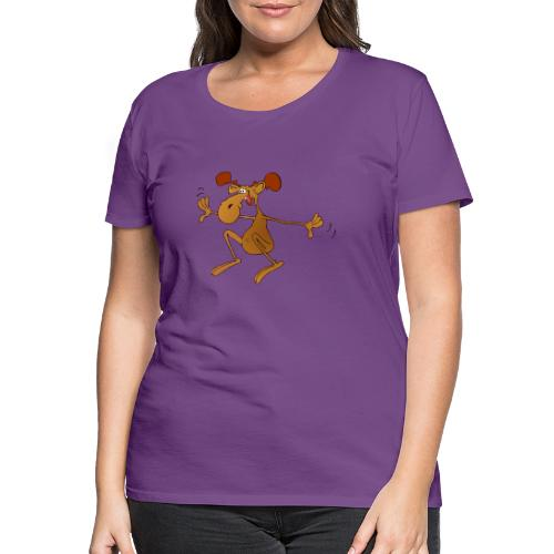 elch huepft - Frauen Premium T-Shirt