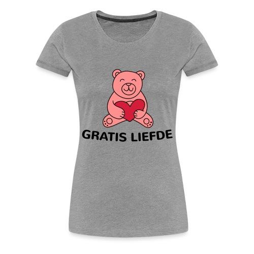 Grappige Rompertjes: Gratis liefde - Vrouwen Premium T-shirt