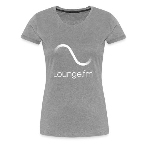 loungefm logo weiss - Frauen Premium T-Shirt
