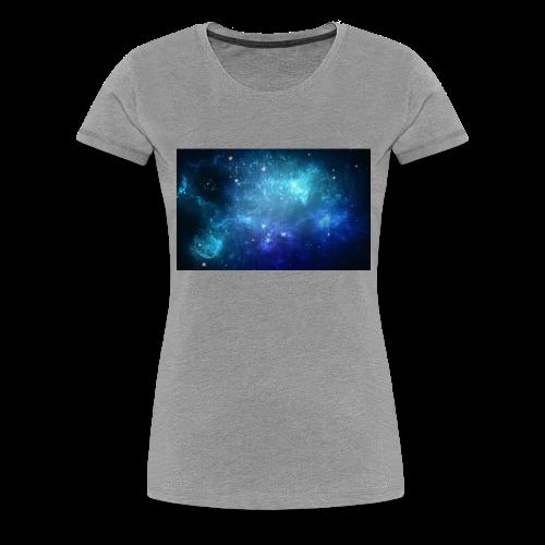 Blue galaxy wallpaper 31677 - Premium-T-shirt dam