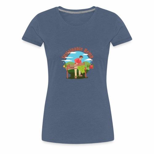 Cáñamo Sustentable en Inglés (Sustainable Hemp) - Camiseta premium mujer