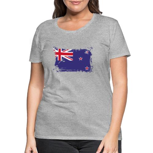New Zealand Flag, Flagge Neuseeland - Frauen Premium T-Shirt